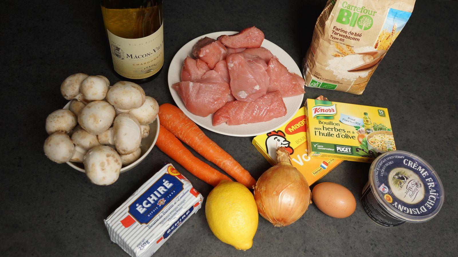 recette — blanquette de veau