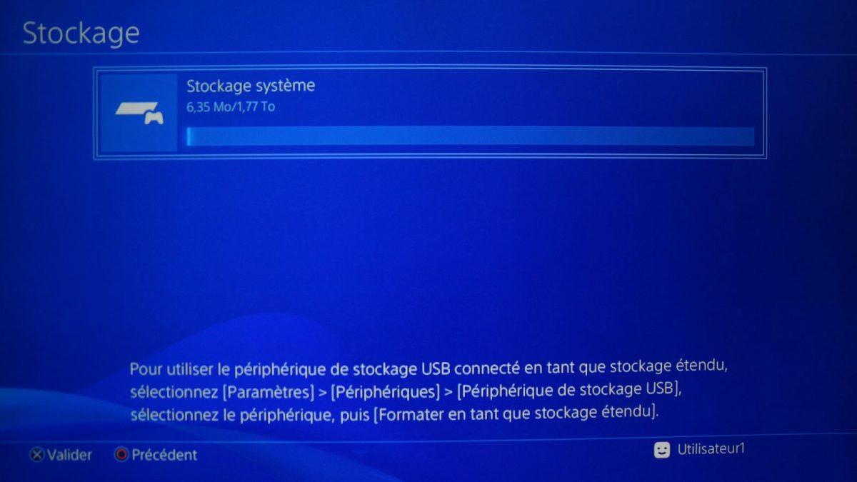 PS4 AMONT LIGNE EN SUR EN TÉLÉCHARGER LE STOCKAGE